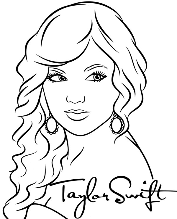 taylor swift coloring pages taylor swift free printable coloring pages coloring home pages swift taylor coloring