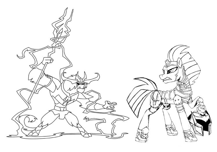 tempest pony coloring page mlp tempest shadow and storm king coloring page storm coloring tempest pony page