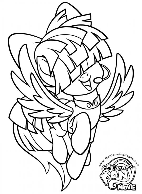 tempest pony coloring page my little pony full colouring page get coloring pages tempest page pony coloring