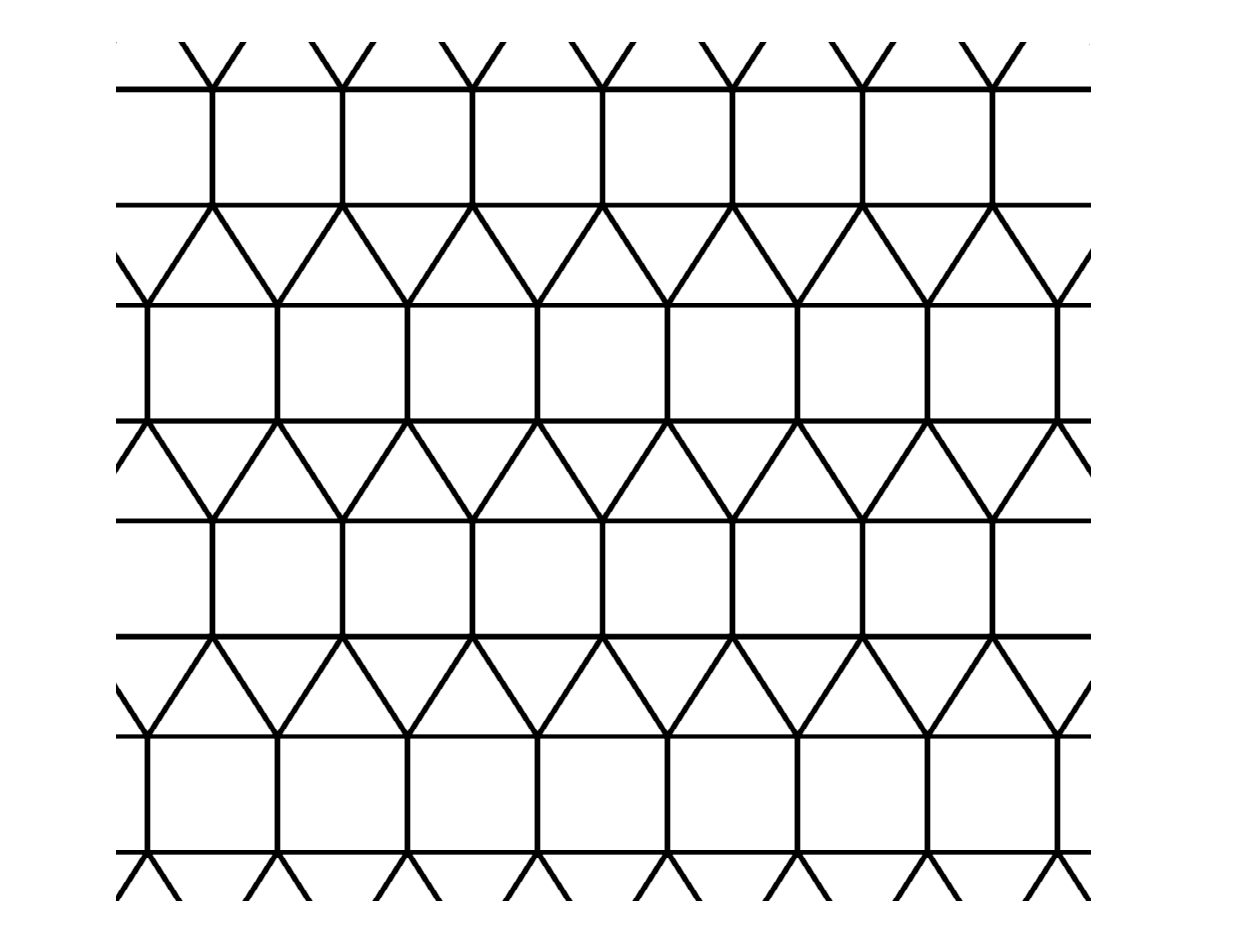 tessellation pictures patterns 3636 waterbomb flagstone tessellation crease pattern patterns tessellation pictures