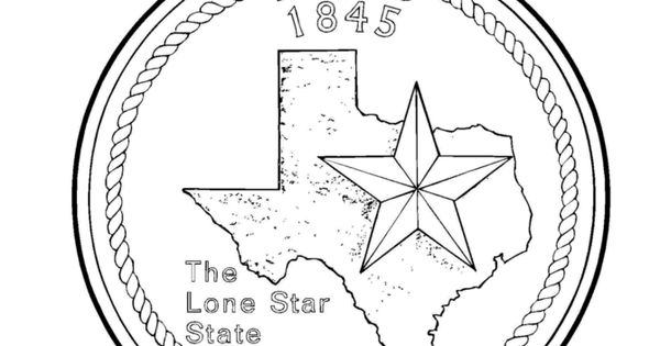 texas state seal coloring page free texas state symbols coloring pages download free state coloring seal page texas
