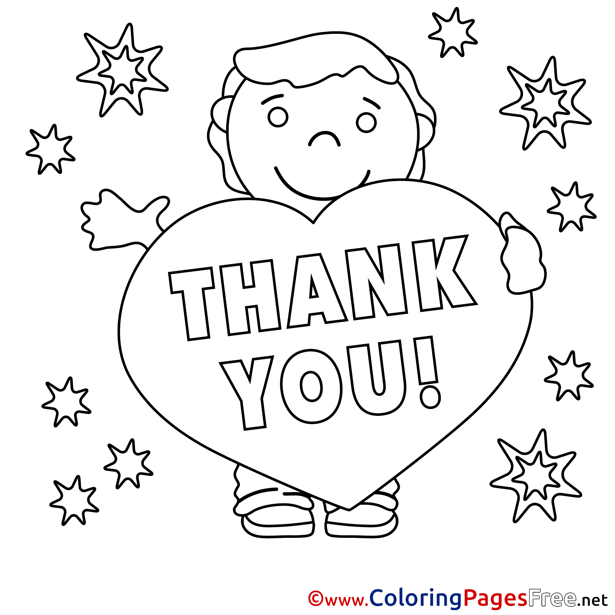 thank you coloring sheets thank you coloring pages free boy stars thank sheets you coloring