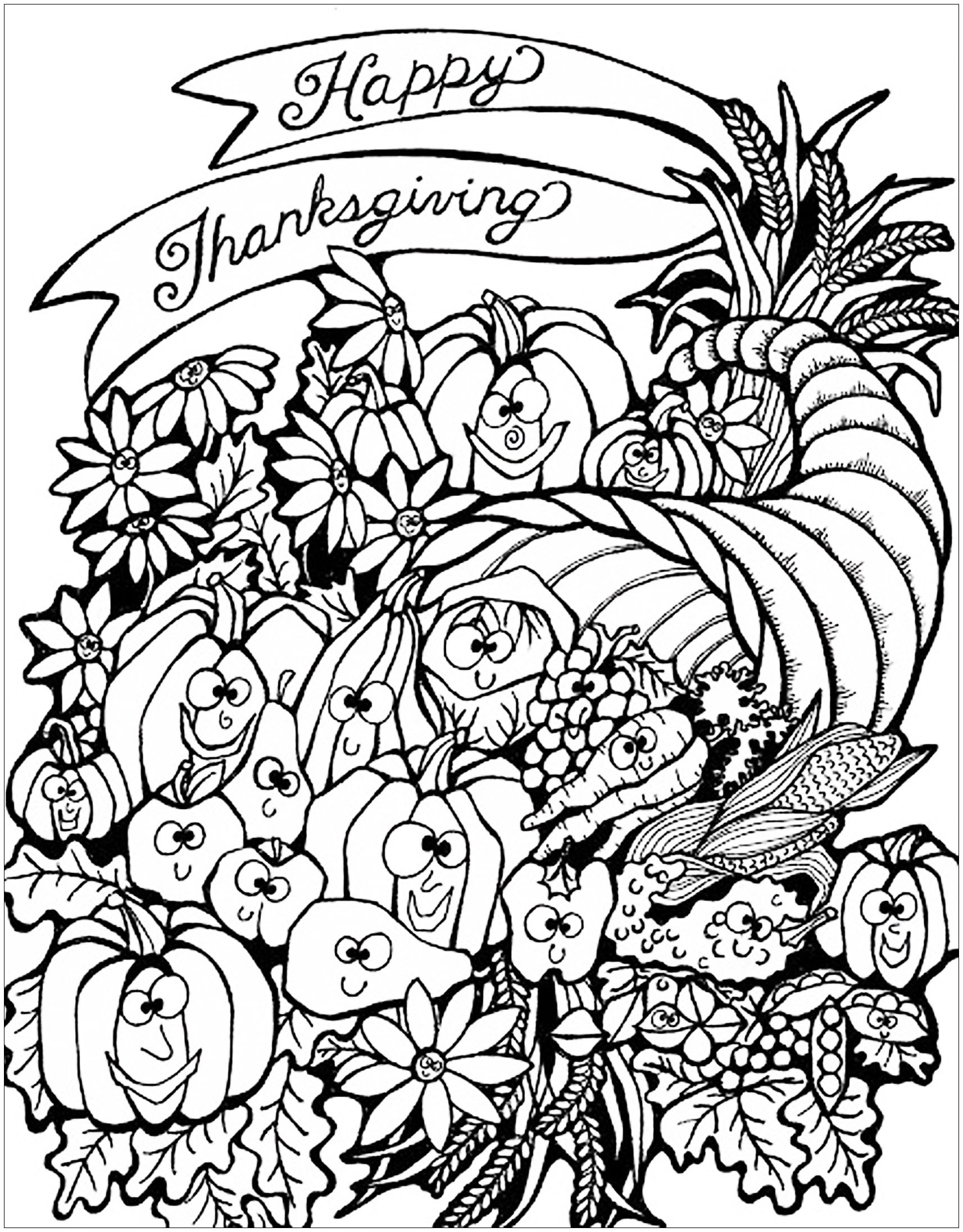 thanksgiving color page happy thanksgiving coloring pages to download and print color page thanksgiving