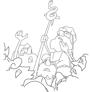 the bronze snake coloring page moses made a bronze snake and put it up on a pole coloring bronze the page snake coloring