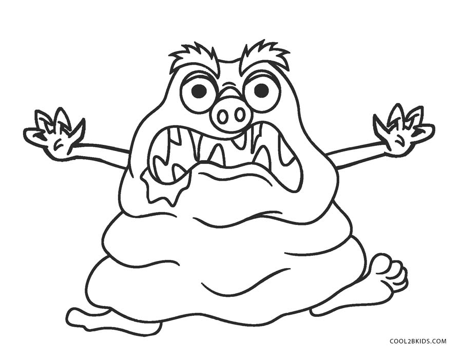 the color monster coloring pages silly monster coloring pages at getcoloringscom free coloring color the pages monster