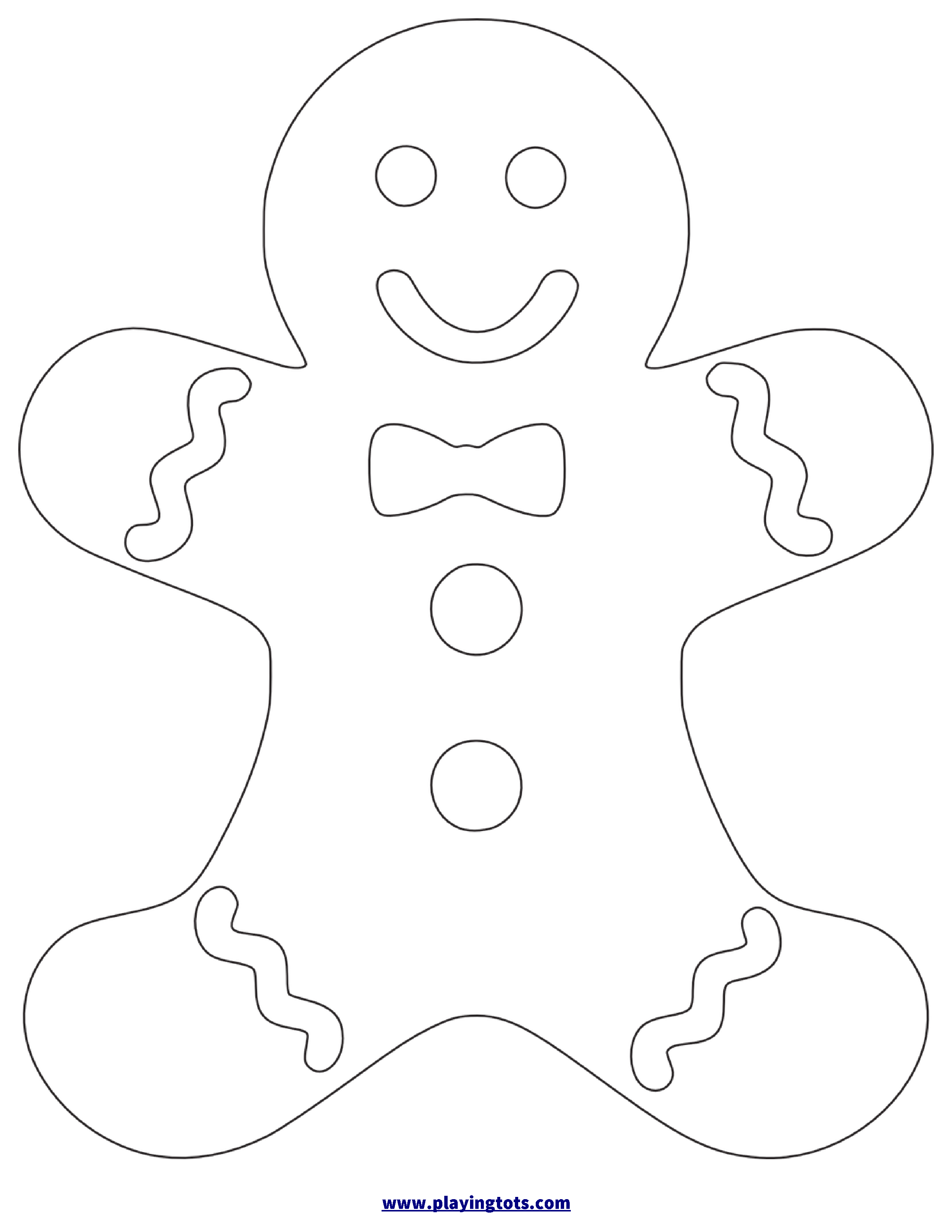 the gingerbread man template 8 free printable large and small gingerbread man templates gingerbread the man template
