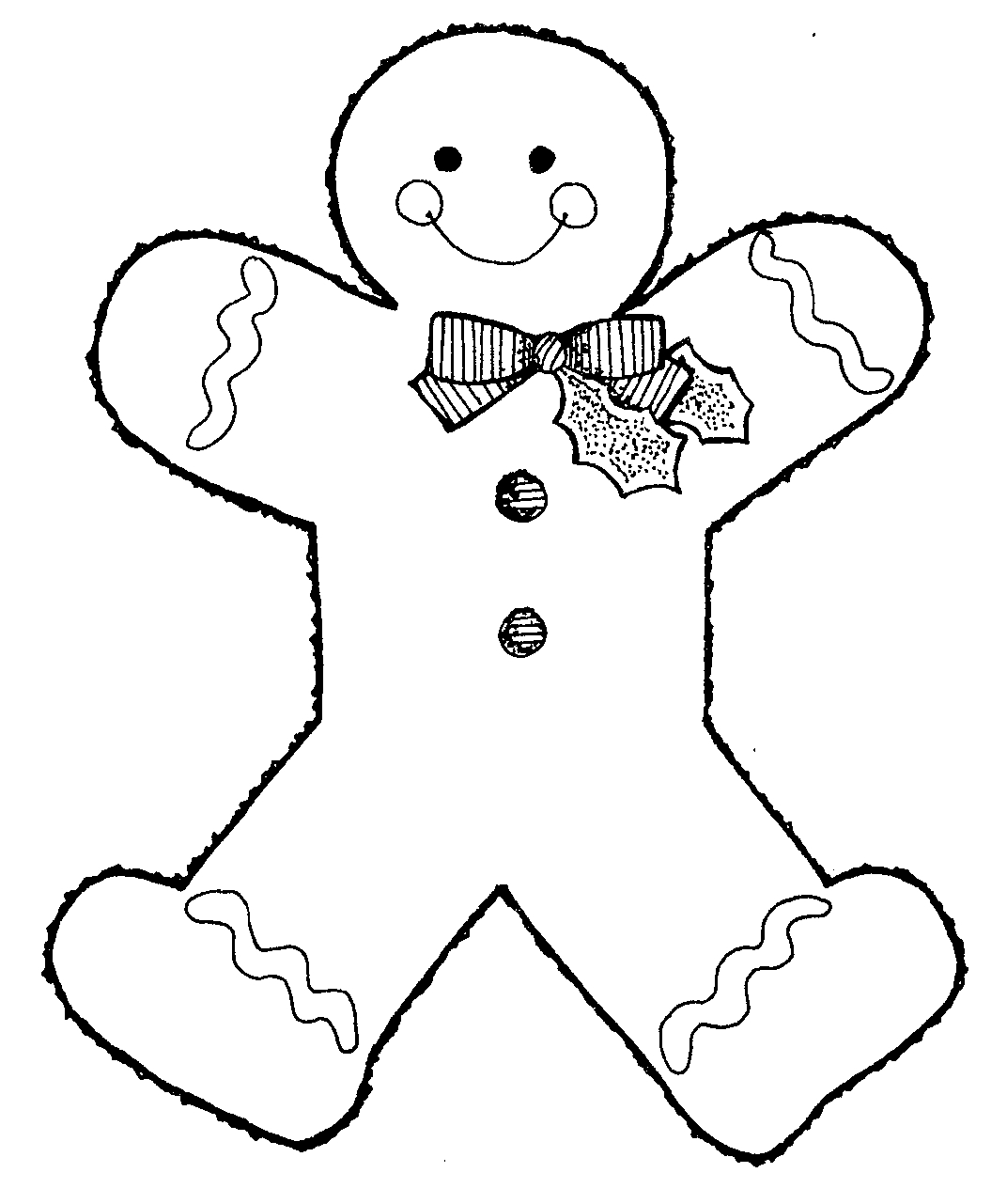 the gingerbread man template gingerbread man template clipart coloring page for kids gingerbread man the template