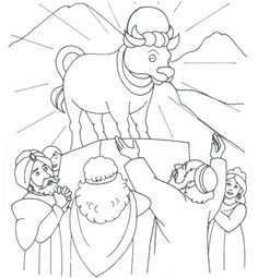 the golden calf coloring page 25 moses the golden calf ideas golden calf bible the page coloring calf golden