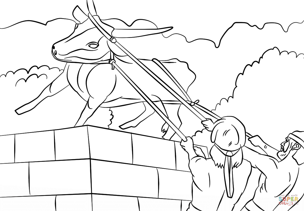 the golden calf coloring page moses golden calf coloring page sketch coloring page the calf golden page coloring