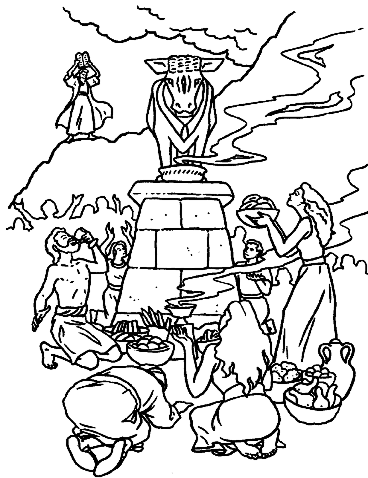 the golden calf coloring page the golden calf bible pathway adventures calf the page coloring golden