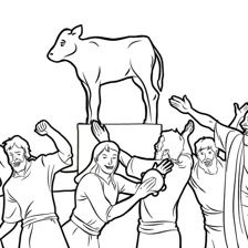 the golden calf coloring page the israelites make a golden calf golden calf bible page golden calf the coloring