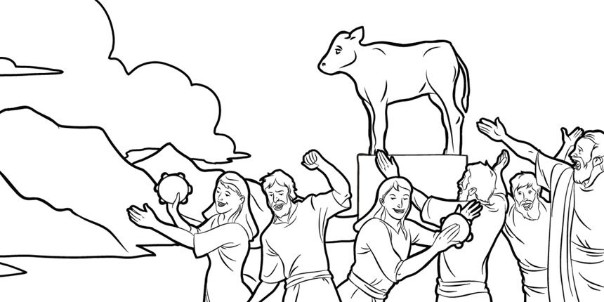 the golden calf coloring page the israelites make an idol coloring pages golden calf calf golden coloring page the