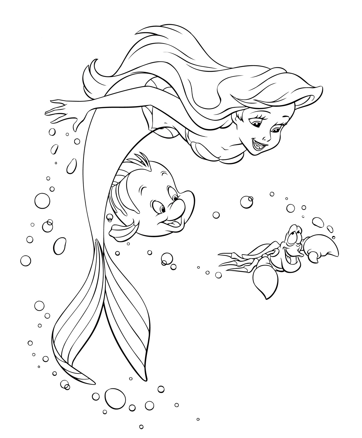 the little mermaid coloring pages the little mermaid printable coloring pages 3 disney the pages coloring little mermaid