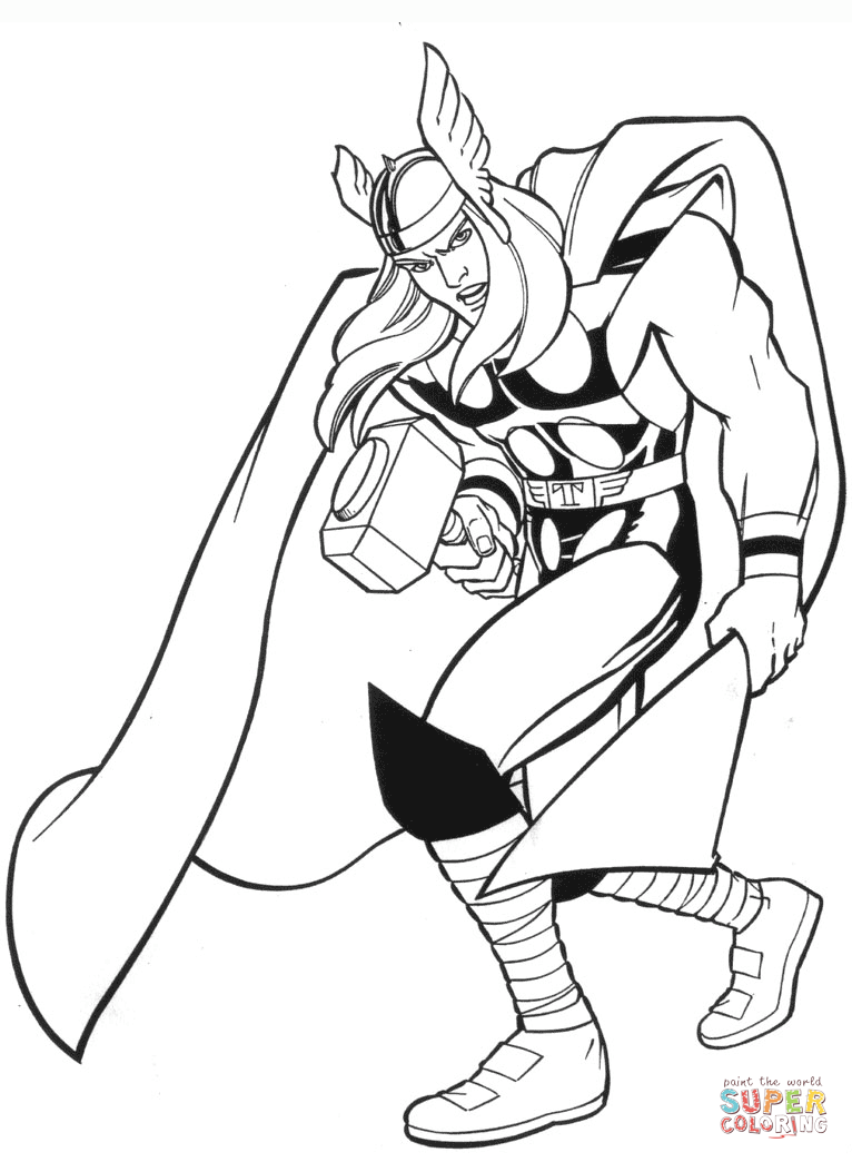 thor coloring sheet thor coloring pages kids thor coloring sheet