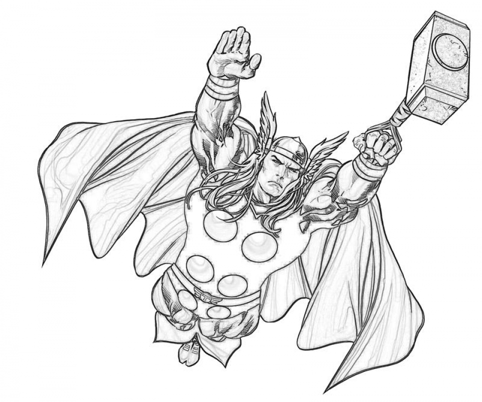 thor coloring sheet thor to download for free thor kids coloring pages coloring thor sheet