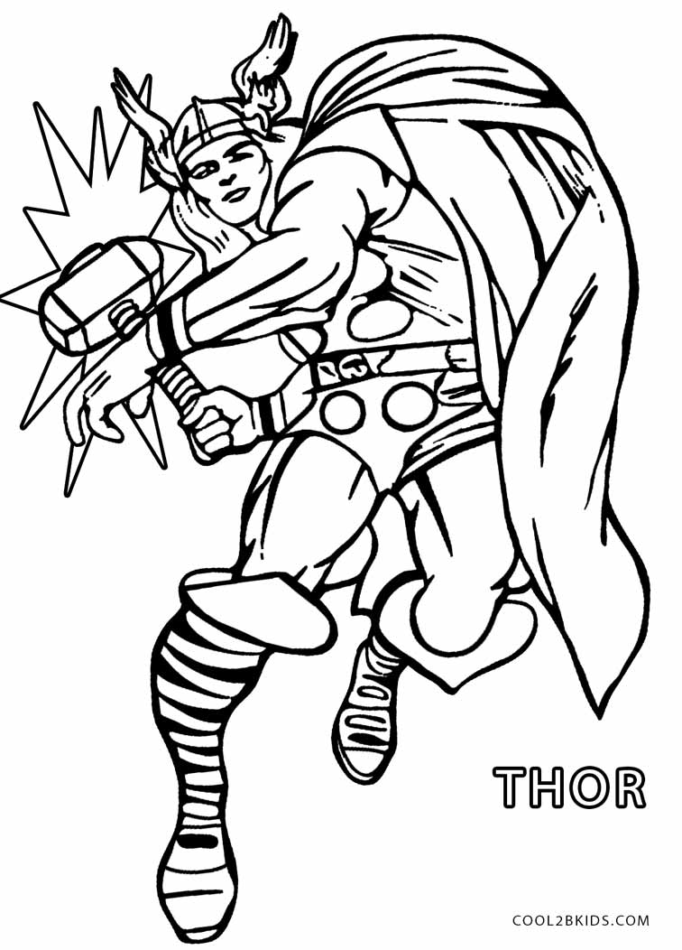thor colouring pictures get this printable thor coloring pages online 64038 colouring thor pictures