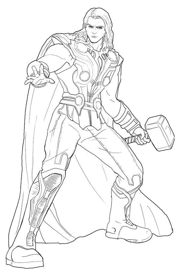 thor colouring pictures how to draw thor thor ragnarok drawing tutorial draw colouring pictures thor