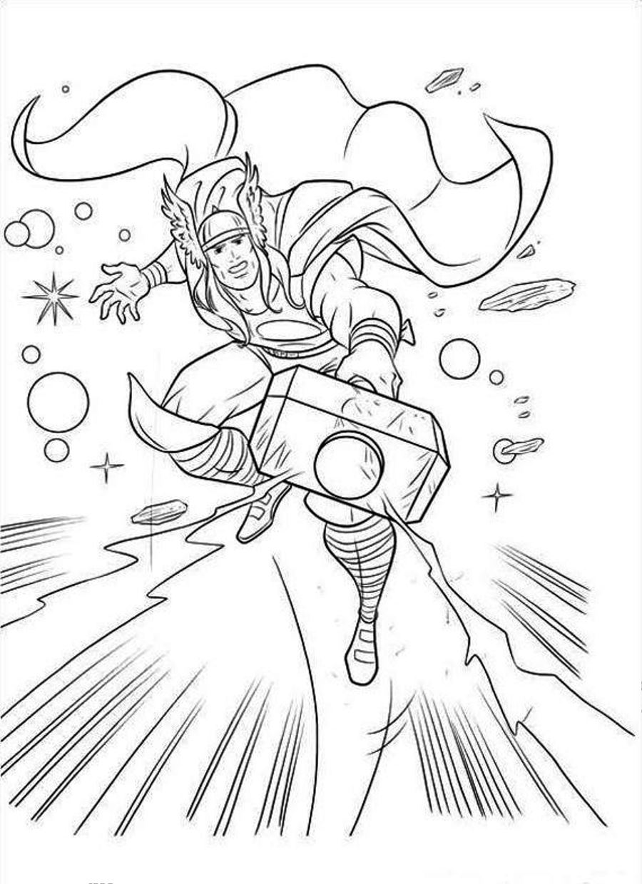 thor colouring pictures printable thor coloring pages for kids cool2bkids pictures thor colouring