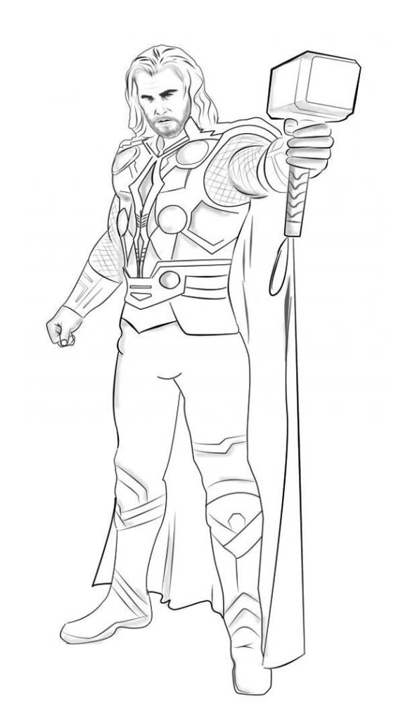 thor colouring pictures thor coloring pages kids pictures colouring thor