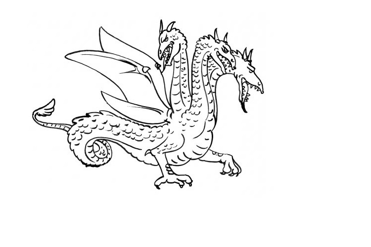 three headed dragon coloring pages fresh ninjago four headed dragon coloring pages top free coloring dragon three pages headed