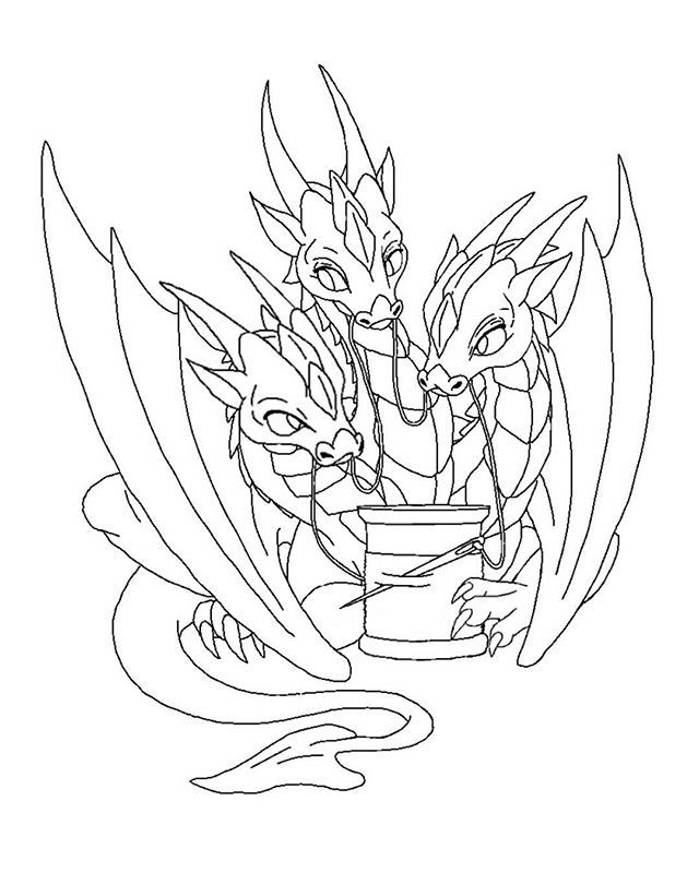 three headed dragon coloring pages three headed dragon stock images royalty free images headed dragon three pages coloring