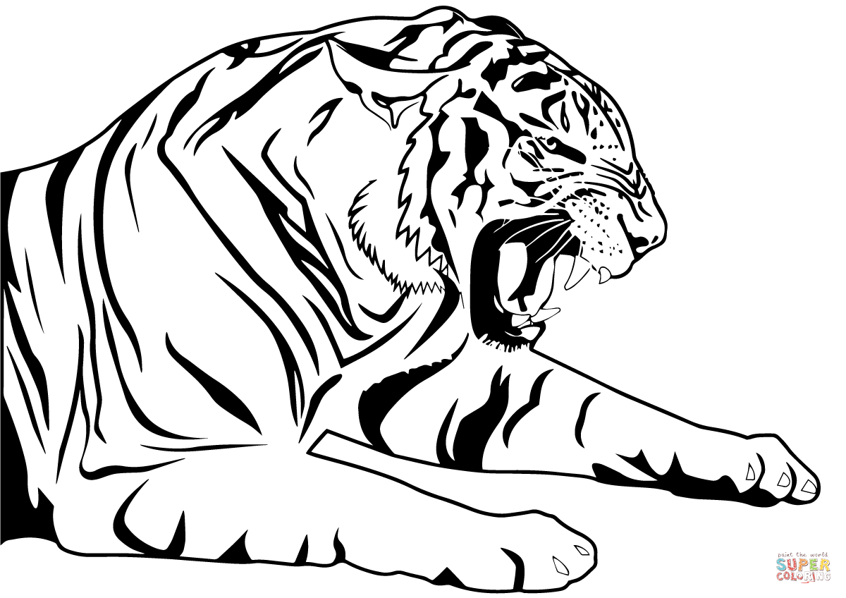 tiger coloring book free printable tiger coloring pages for kids coloring book tiger