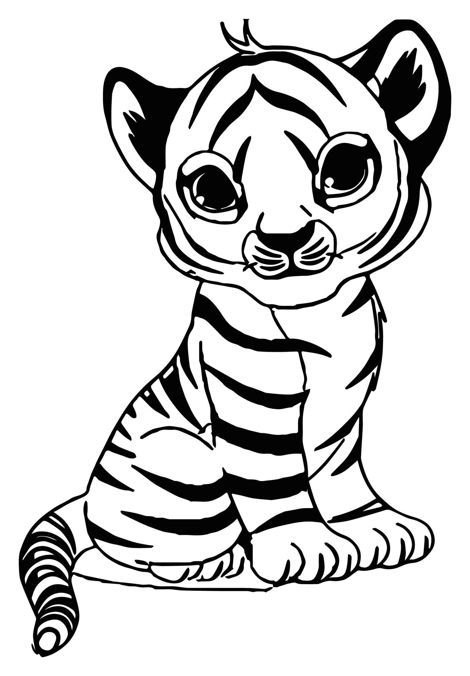 tiger coloring book the cutest baby tiger coloring page free printable tiger book coloring