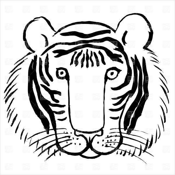 tiger face coloring free 9 tiger coloring pages in ai tiger face coloring