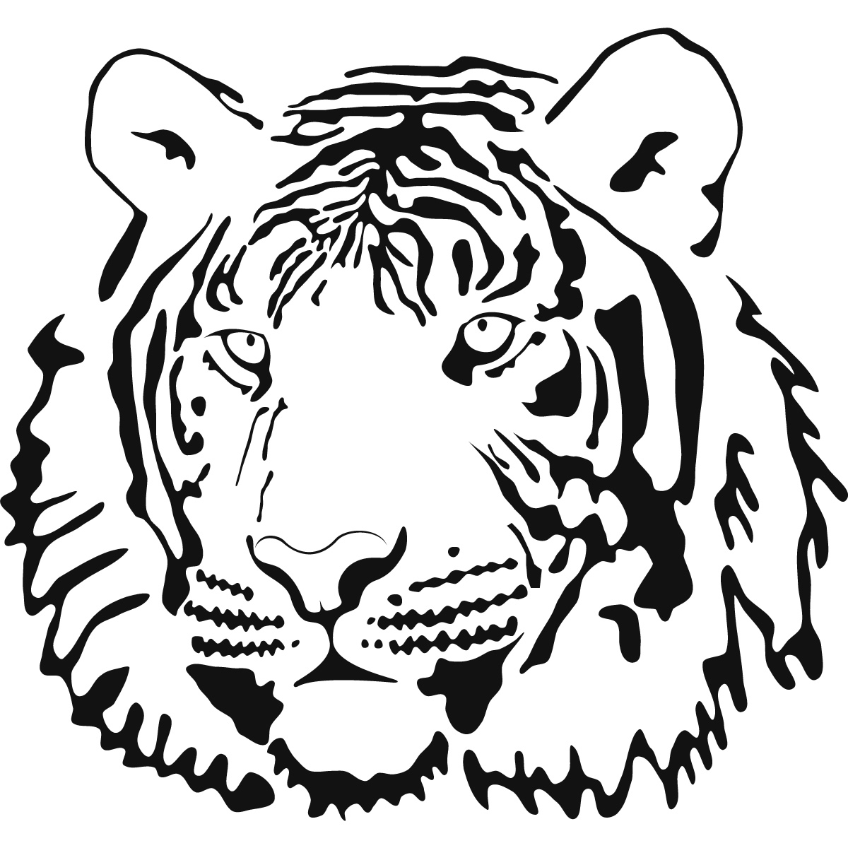 tiger face coloring tiger coloring pages free download on clipartmag face tiger coloring