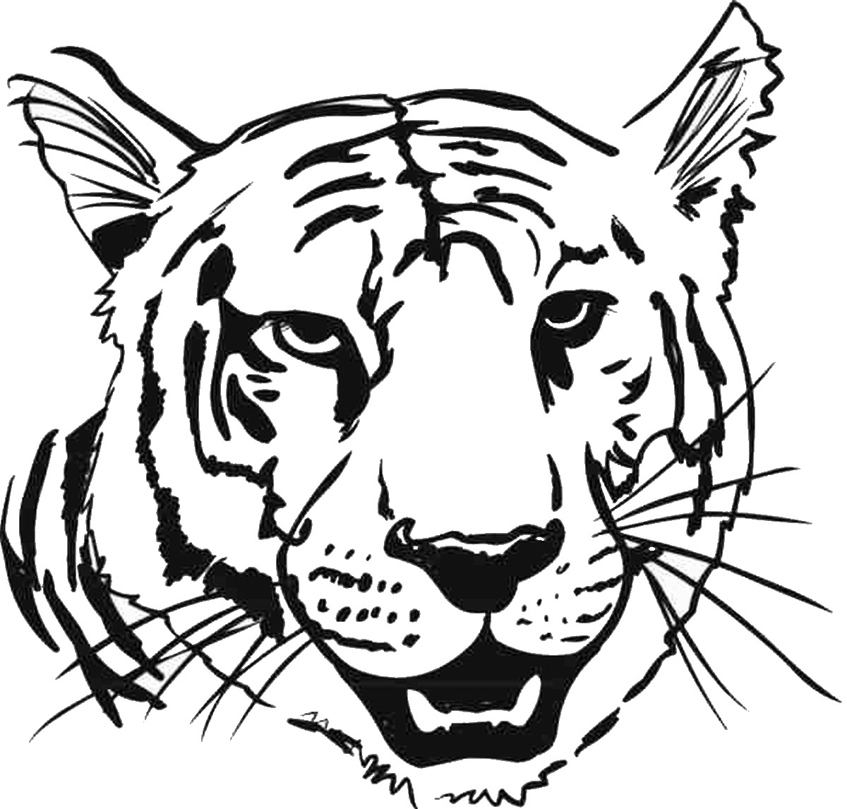 tiger face coloring tiger coloring pages tiger face coloring