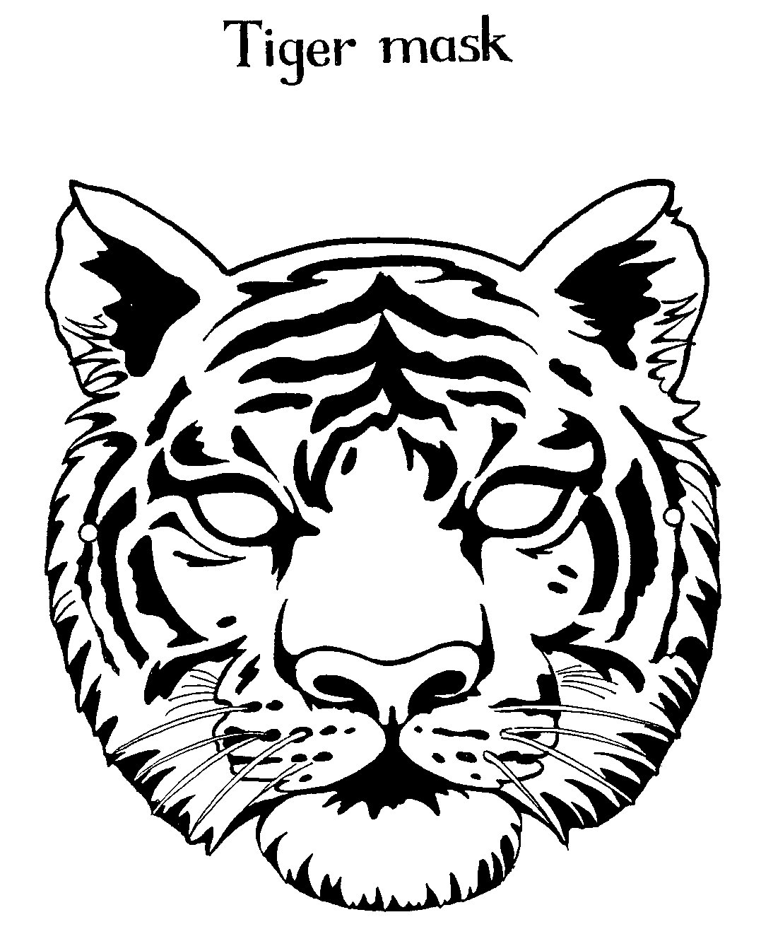 tiger face coloring tiger face mask template sketch coloring page coloring tiger face