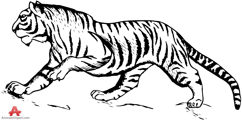 tiger outline sitting tiger style 1 vinyl wall art decal from outline tiger