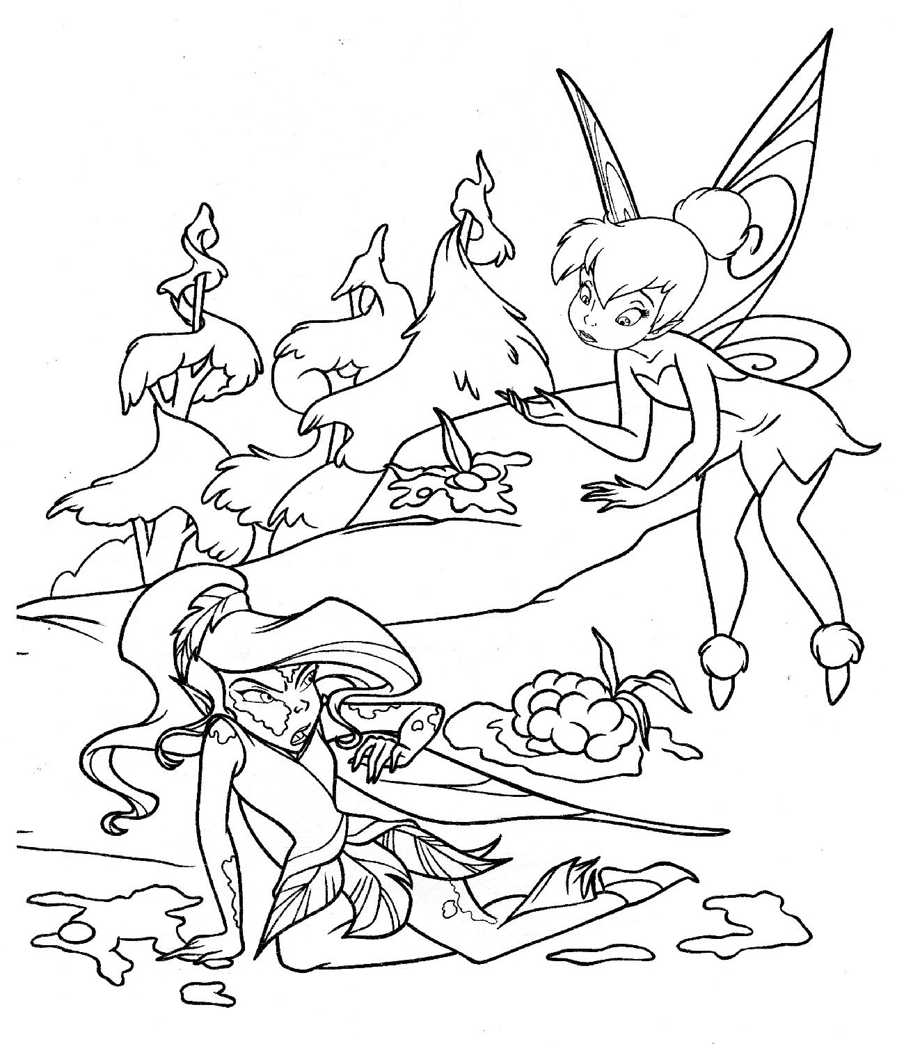 tinker bell coloring pages tinkerbell and periwinkle coloring pages coloring home bell coloring tinker pages