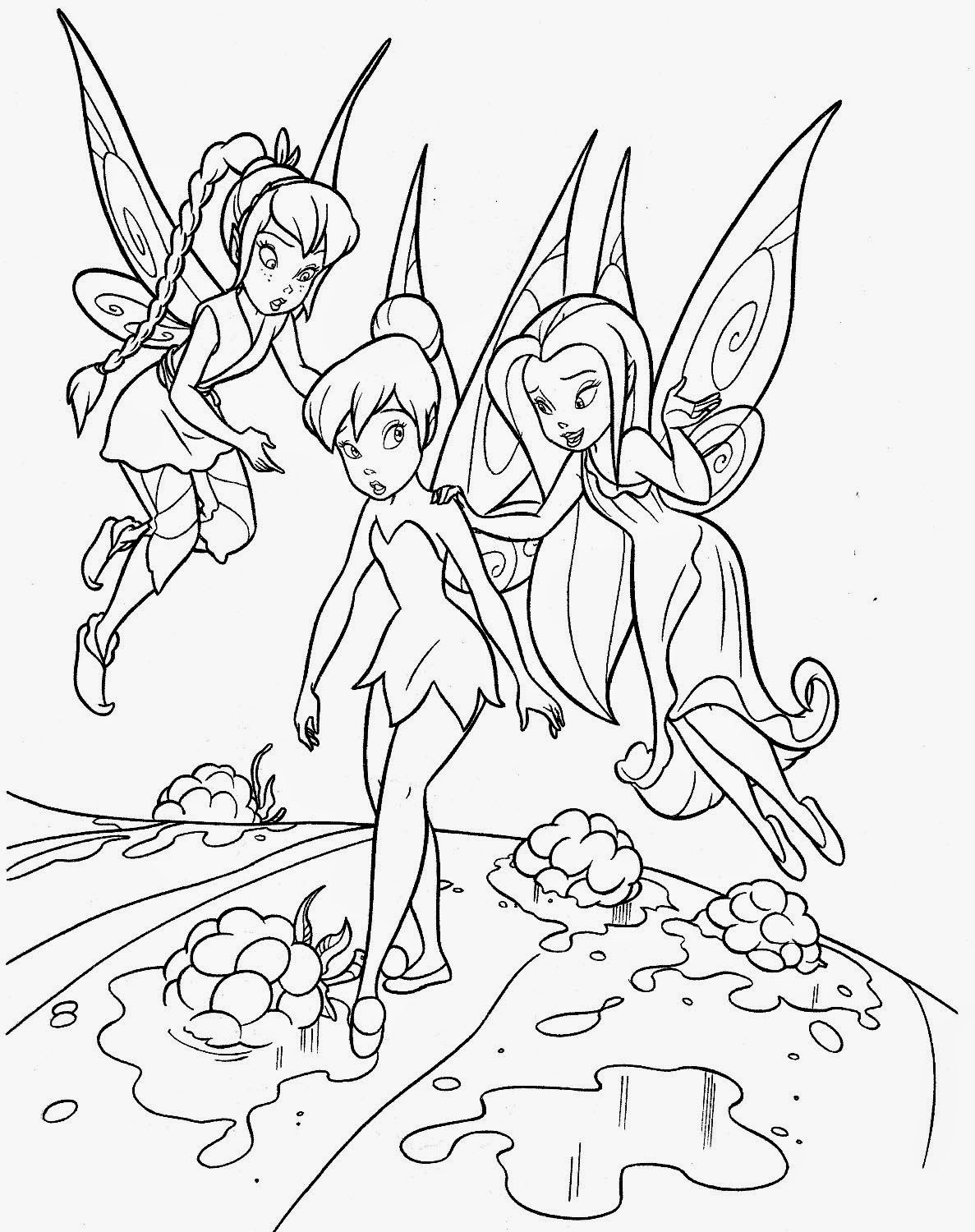 tinker bell coloring pages tinkerbell easy drawing at getdrawings free download coloring bell tinker pages