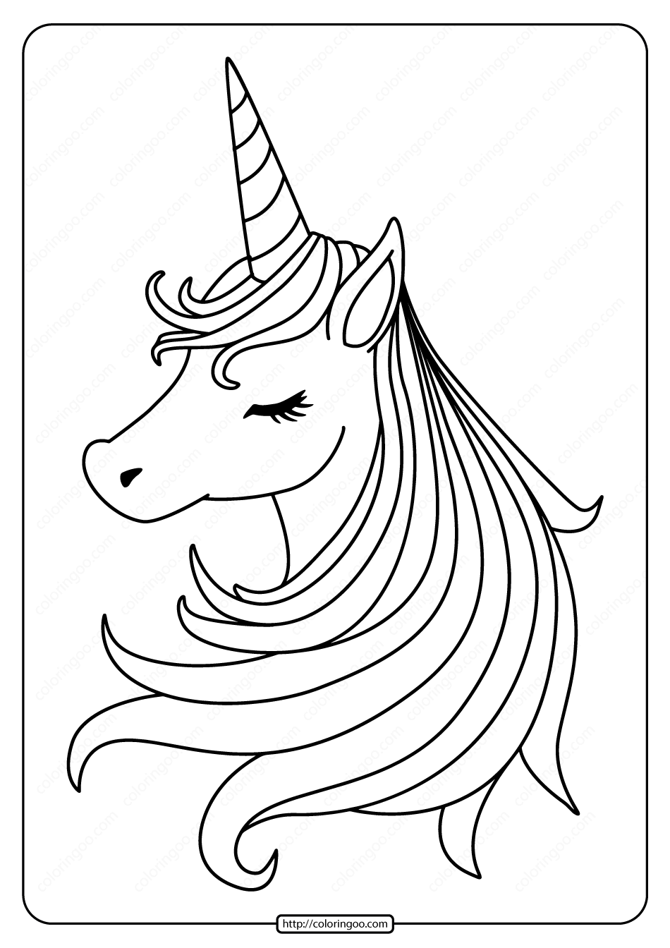 toddler kids coloring pages pdf free printable sleeping unicorn pdf coloring page kids toddler pdf coloring pages