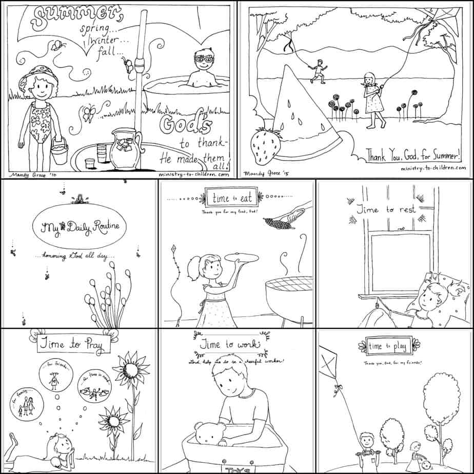 toddler kids coloring pages pdf free printable summer coloring pages for kids 9 sheet toddler pdf pages coloring kids