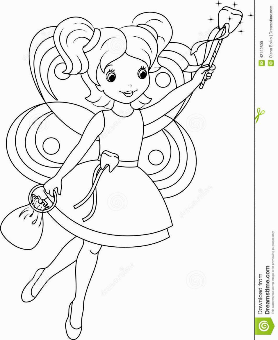 tooth fairy coloring free printable tooth fairy coloring pages coloring home tooth coloring fairy