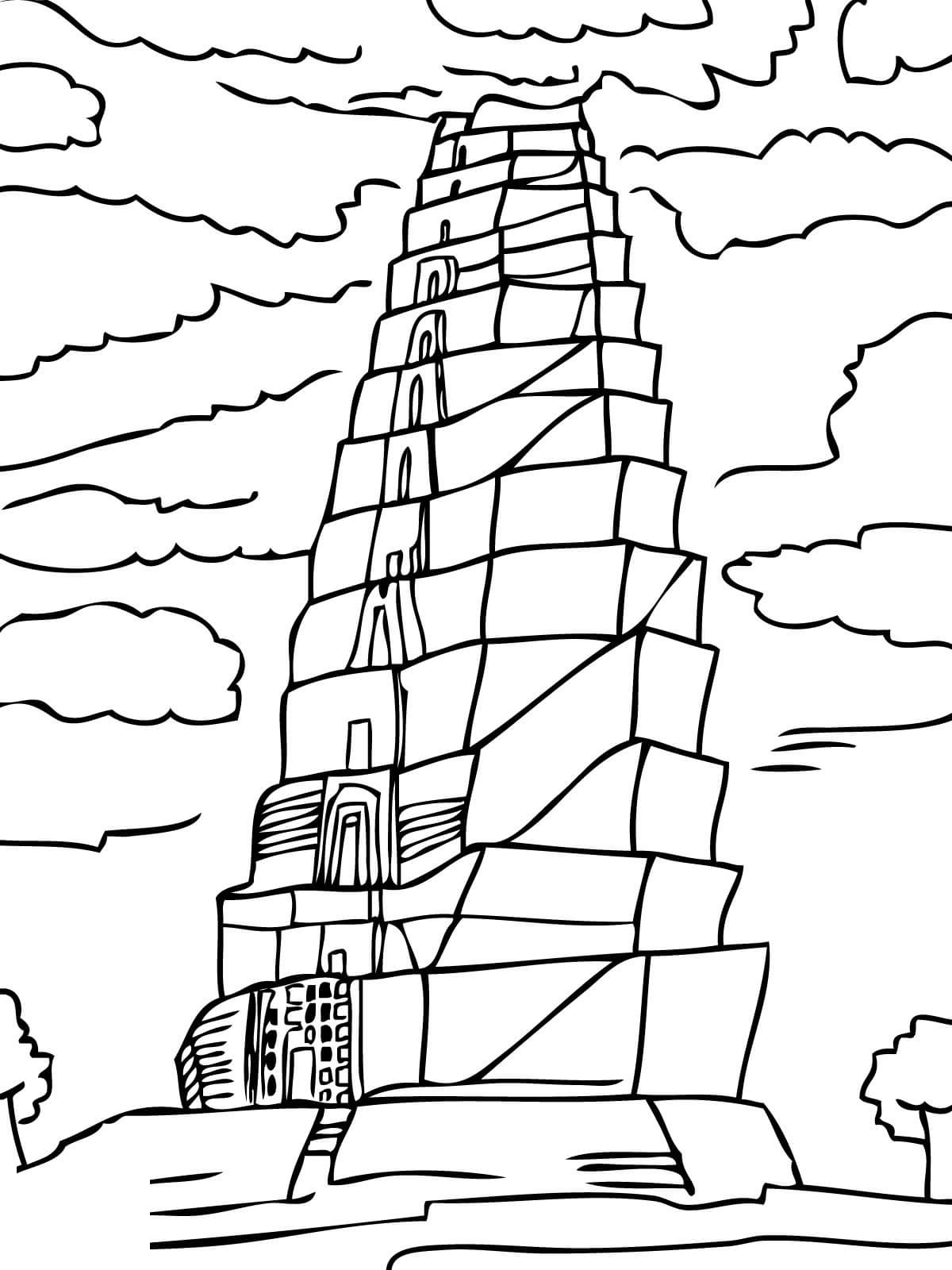 tower of babel coloring sheet 32 tower of babel coloring page in 2020 with images sheet coloring tower babel of