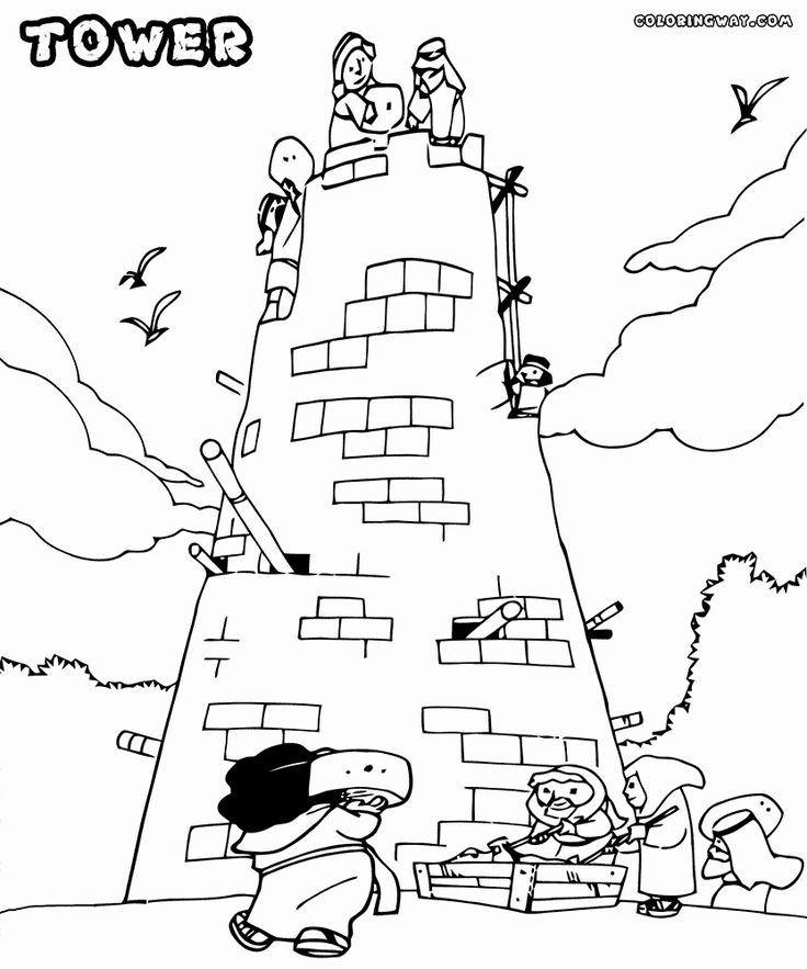 tower of babel coloring sheet printable tower of babel coloring pages coloringmecom sheet babel tower of coloring