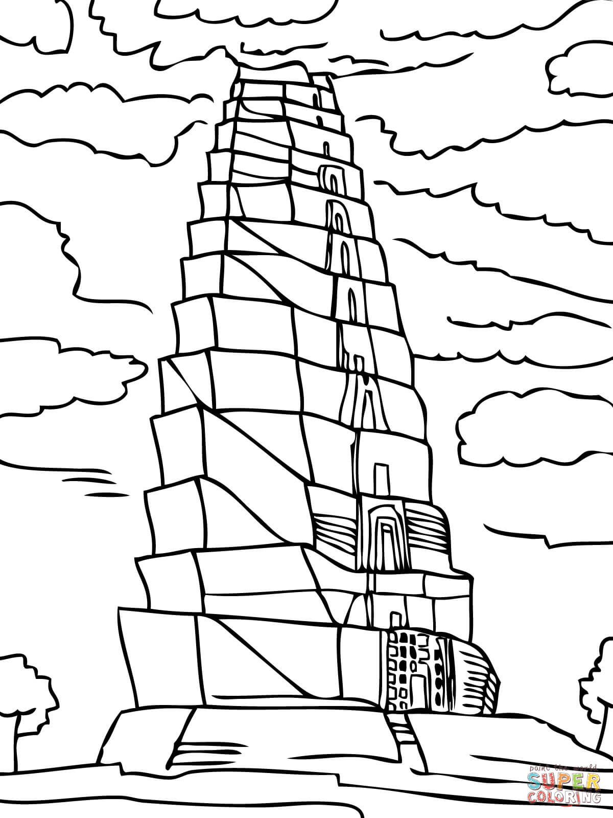 tower of babel coloring sheet tower of babel bible coloring page thecatholickidcom in of tower babel coloring sheet