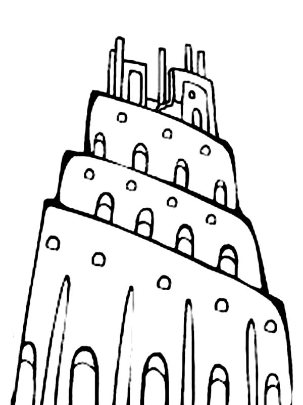 tower of babel coloring sheet tower of babel coloring pages for kids sketch coloring page babel of coloring tower sheet