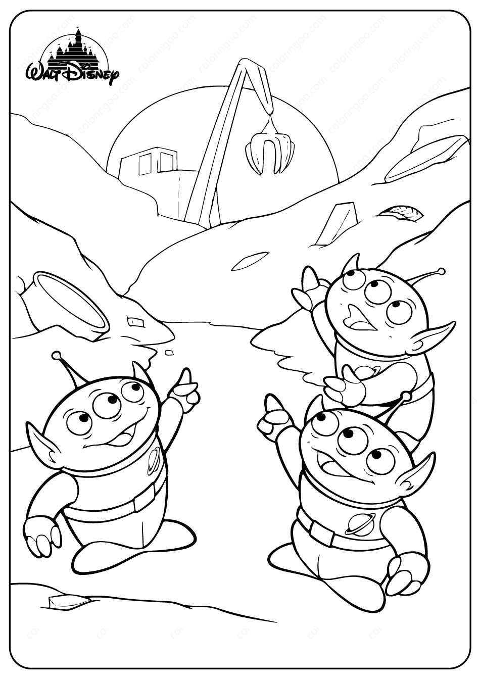toy story alien coloring sheet alien coloring pages story toy alien sheet coloring