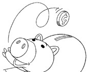 toy story hamm coloring page 18 hamm toy story coloring page harrumg hamm page story toy coloring