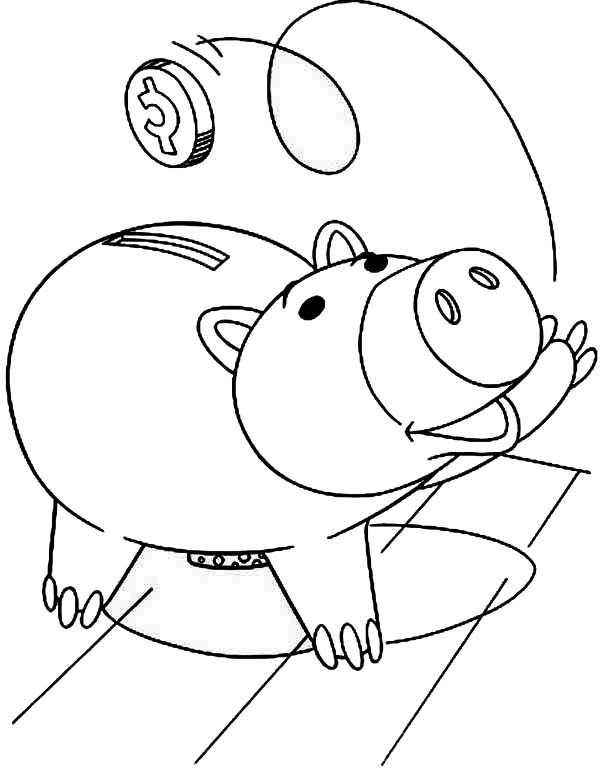 toy story hamm coloring page coloring hamm the piggy bank picture story page coloring toy hamm