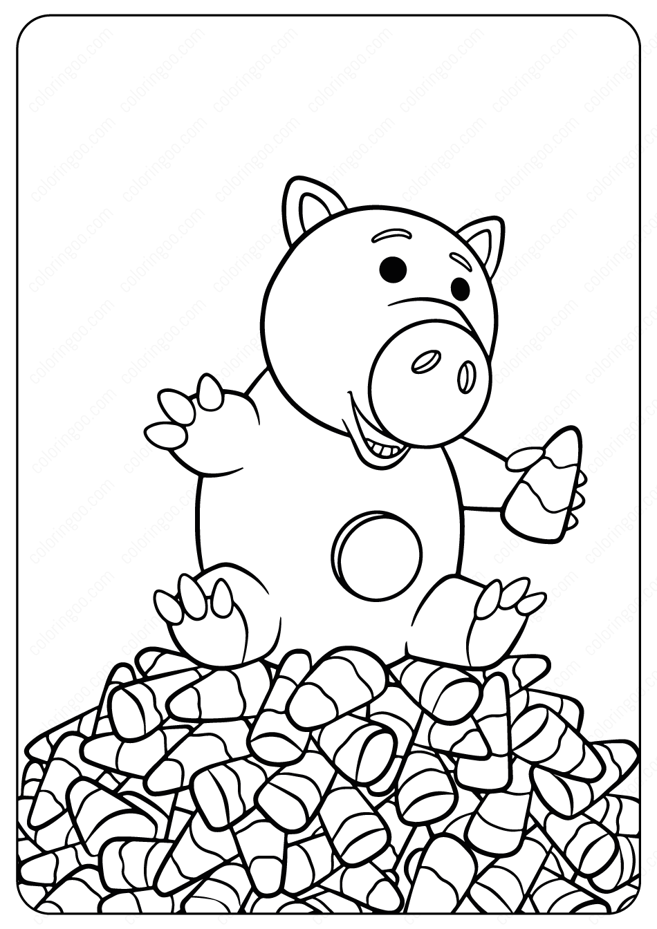 toy story hamm coloring page disney toy story hamm halloween coloring pages story coloring toy hamm page
