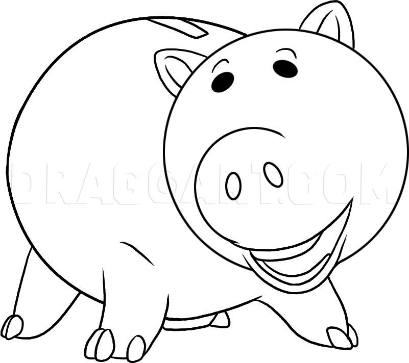 toy story hamm coloring page hamm the piggy bank from toy story coloring page color luna coloring hamm story toy page