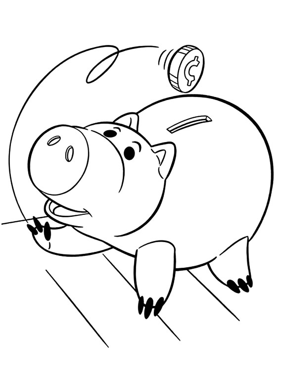 toy story hamm coloring page how to draw hamm from toy story step by step drawing toy page hamm coloring story