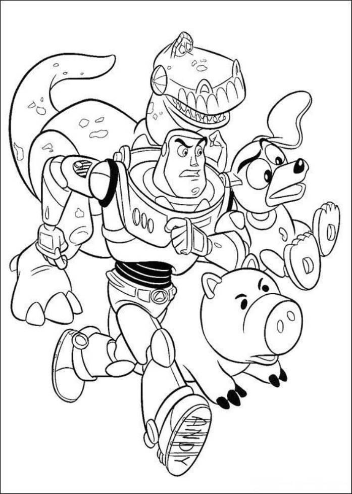 toy story hamm coloring page read morebuzz hamm slinky dog rez running toy story hamm page toy story coloring