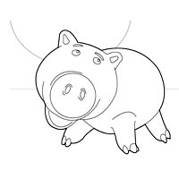 toy story hamm coloring page toy story coloring pages surfnetkids coloring page toy hamm story