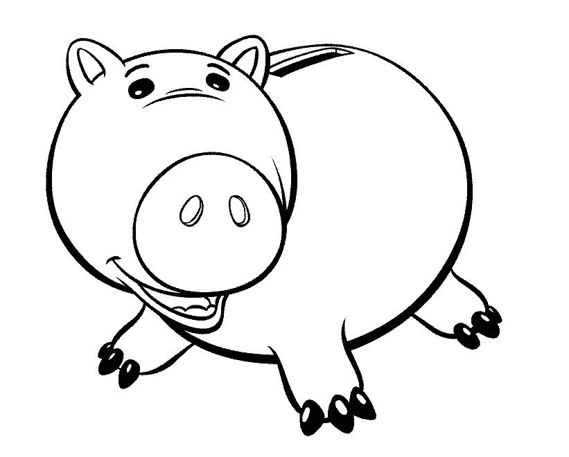 toy story hamm coloring page toy story hamm coloring pages 3 by mary con immagini hamm toy page story coloring